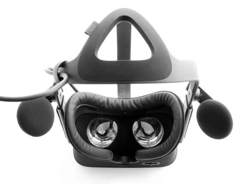 Oculus Rift mit montiertem Facial Interface und Lederüberzug. Bild: VRCover