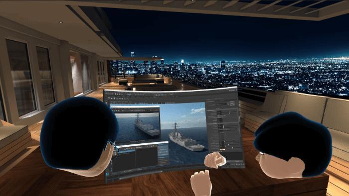 In Bigscreen dreht sich alles um virtuelle Monitore, die man gemeinsam mit anderen Avataren betrachtet. Bild: Bigscreen