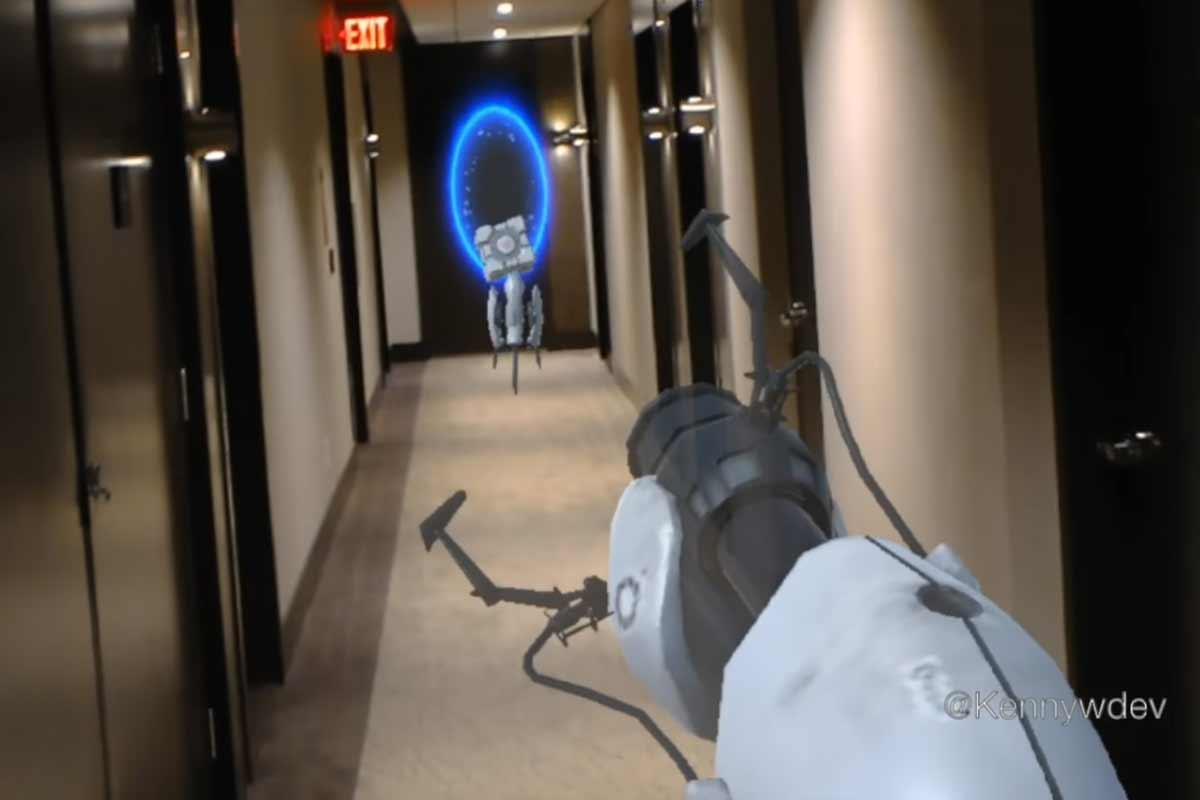 Gaming mit der Hololens: Entwickler zeigt Portal-Demo