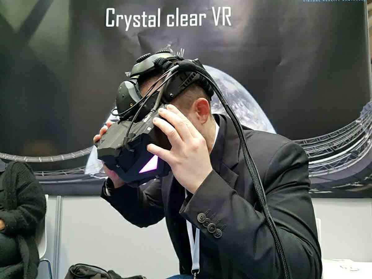 CeBIT 2017: Virtual-Reality-Brille mit 5K-Auflösung ausprobiert