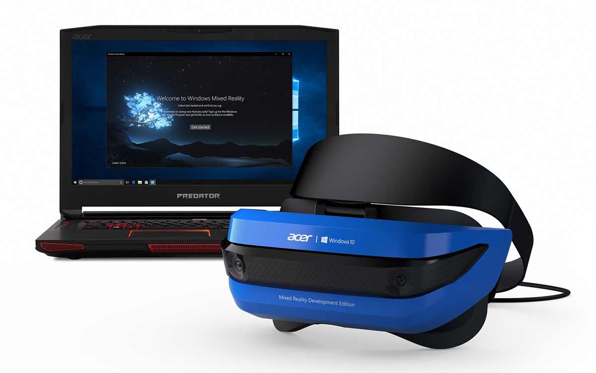 Neue Hands-on-Artikel verraten mehr Details über Komfort, Display und Tracking der neuen Acer-VR-Brille für Windows Mixed Reality.