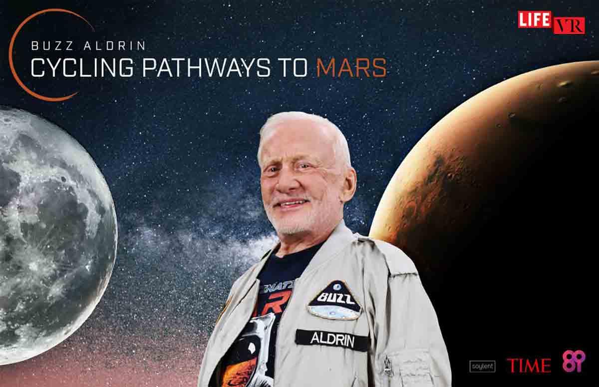 """Buzz Aldrin will der Menschheit den Weg zum Mars ebnen. In """"Cycling Pathways to Mars"""" legt er seine Vision dieser epischen Reise dar."""