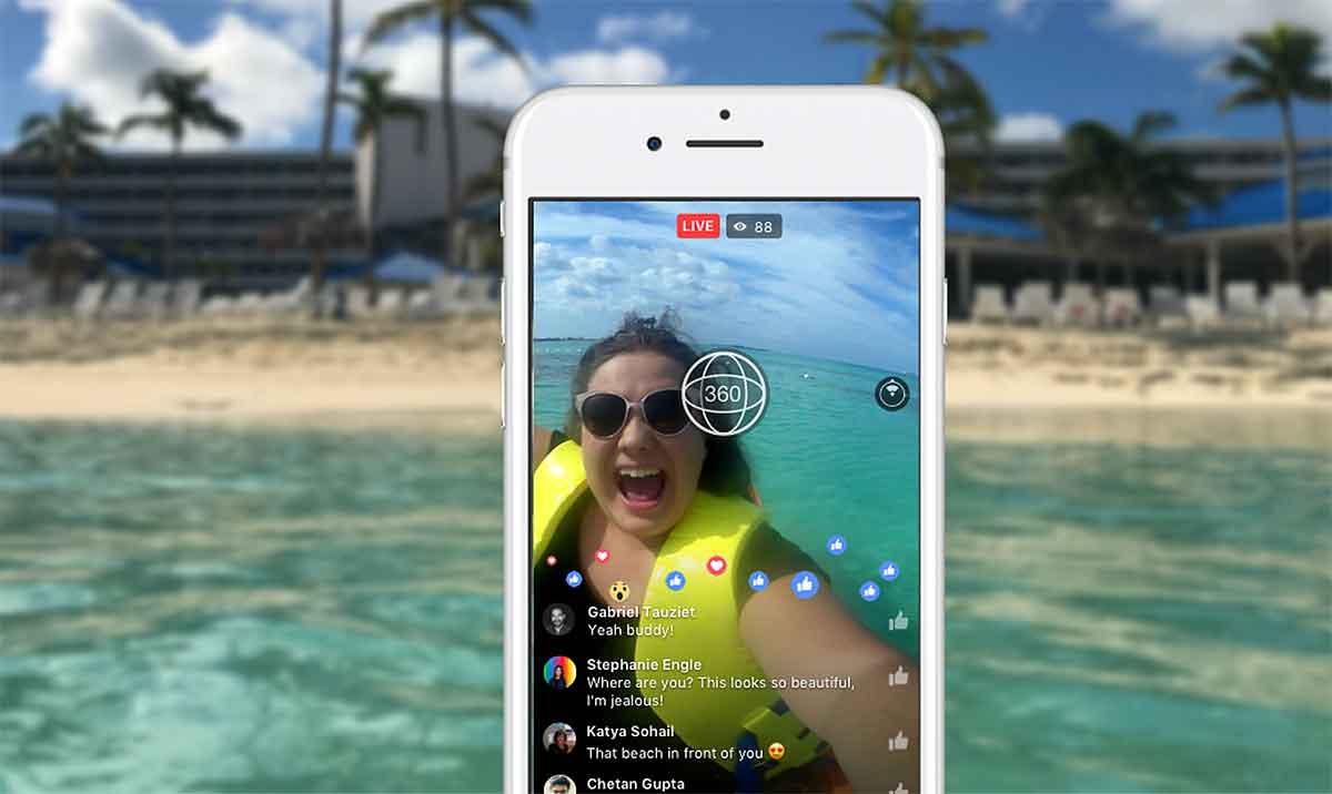 Nutzer von Facebook können ab sofort Aufnahmen in 360-Grad live übertragen. Vorausgesetzt, sie besitzen eine der unterstützten Kameras.