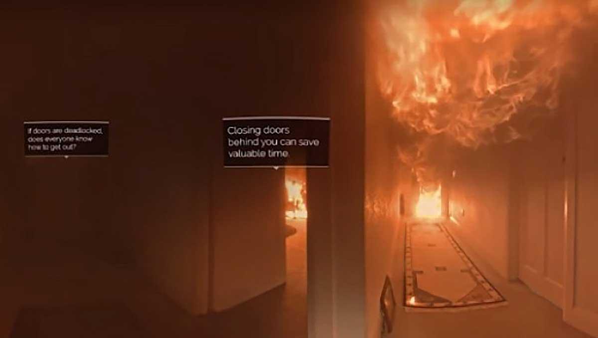 Die neuseeländische Feuerwehr hat eine VR-Erfahrung entwickelt, die Menschen beibringt, wie sie sich im Falle eines Hausbrands verhalten müssen.