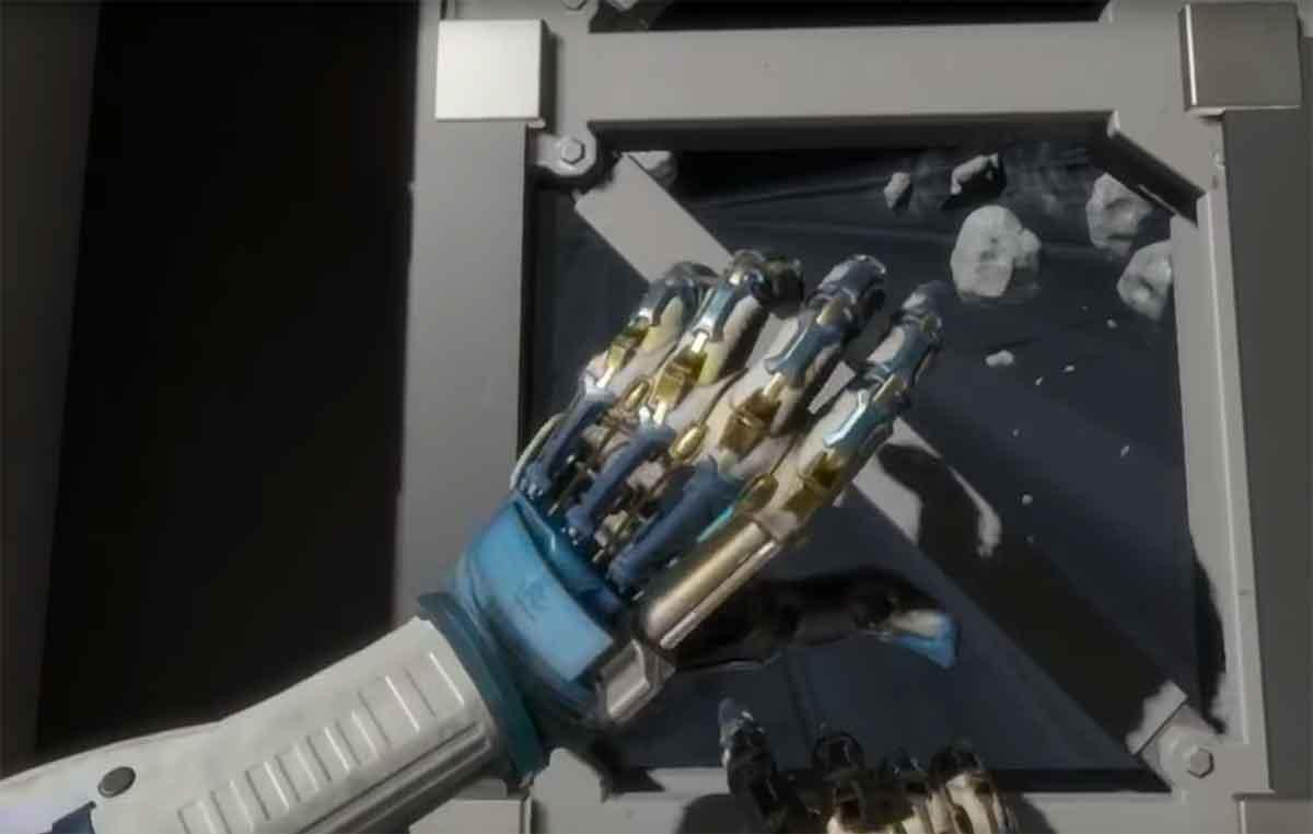 In Lone Echo gibt es keine starren Animationen. Stattdessen passen sich die virtuellen Hände dem Gegenstand, den sie berühren, dynamisch an.