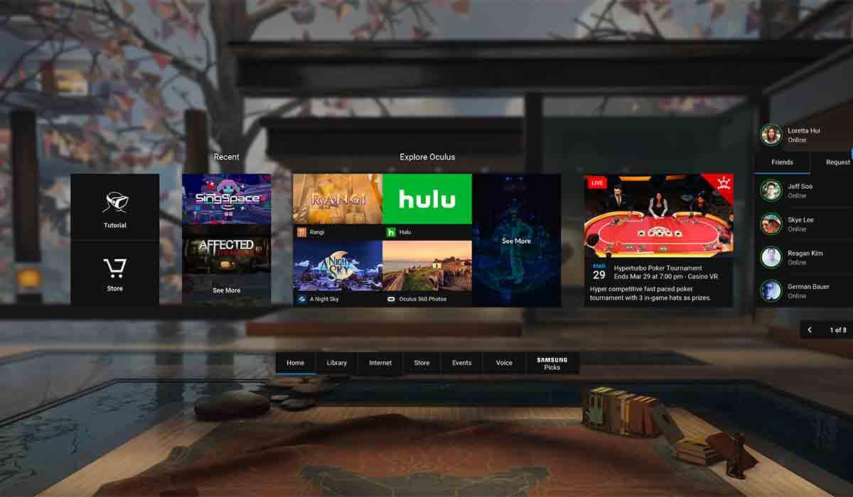 Samsung Gear VR: Großes Update hebt Oculus Home auf eine neue Stufe