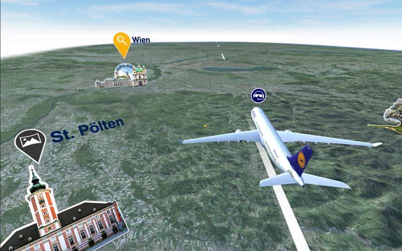 Virtual-Reality-App der Luftansa