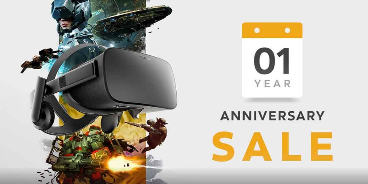 Das Einjährige von Oculus Rift begeht die Facebook-Tochter mit einem großen Ausverkauf im eigenen Store.