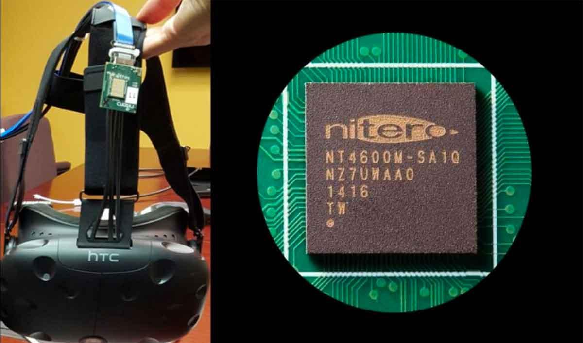 Nitero entwickelt Chips, die für eine drahtlose Übertragung großer Datenpakete optimiert sind, eine Schlüsseltechnologie für Wireless-VR.
