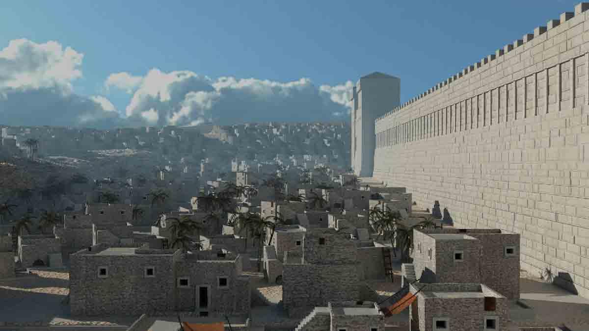 Mit einer App können Touristen an Ort und Stelle sehen, wie eine antike Kulturstätte zur Blütezeit der römischen Kultur ausgesehen hat.