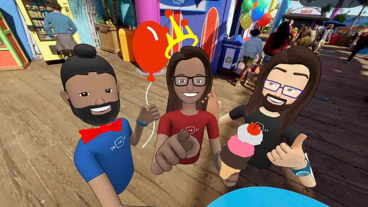 """Mit """"Spaces"""" zündet Facebook die nächste Ausbaustufe der Virtual Reality: Soziale Interaktion in der virtuellen Realität für jedermann."""