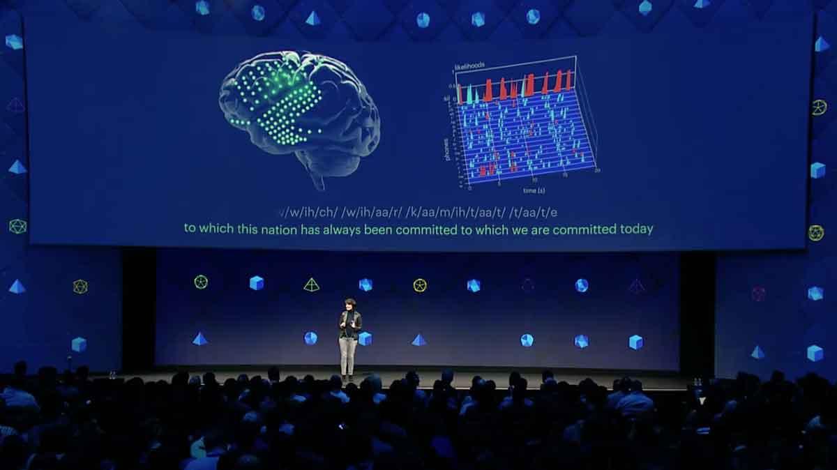 Auf der F8 gewährte Facebook Einblick in die neuste Forschung. Das Ziel ist, Gedanken in Sprache umzuwandeln und über die Haut zu übertragen.