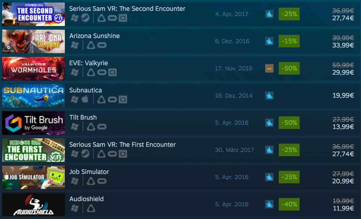 Steams VR-Jubiläumsaktion läuft. Bis am Sonntag kann man Tilt Brush und Raw Data kostenlos spielen, außerdem sind viele Spiele herabgesetzt.