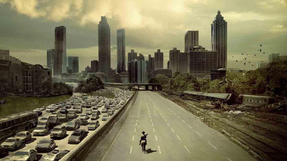 """Die Zombies aus """"The Walking Dead"""" kommen - wie blöd, dass man in der Virtual Reality so schlecht rennen kann."""