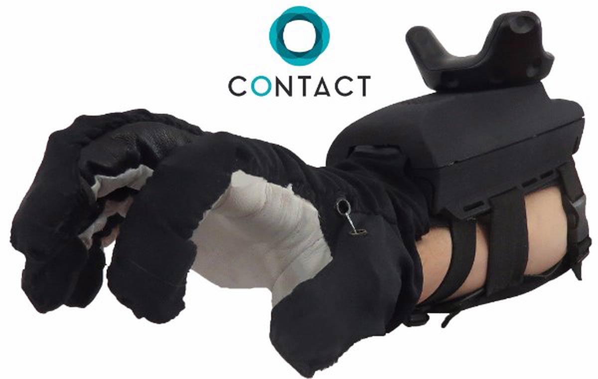 """Der Haptik-Handschuh """"Maestro VR"""" soll die Virtual Reality fühlbar machen. Künstliche Sehnen in einem Handschuh geben Widerstand."""