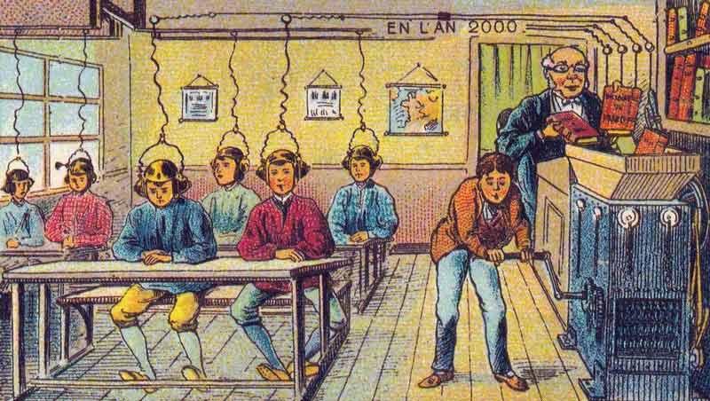 Die Saftpresse für Bücher stillt den Wissensdurst der Schüler. Bild: Wikimedia Commons