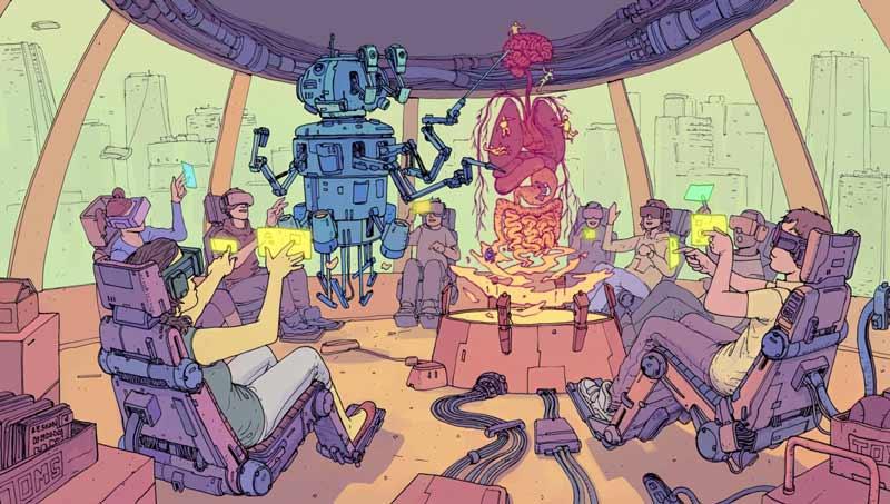 Ob der Roboter auch Lieblingsschüler hat, die er bevorzugt benotet? Bild: Gonzalez