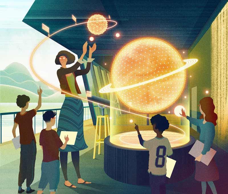 Chivers Zukunftsvision wäre als Low-End-Variante mit Hololens schon heute möglich. Bild: Chivers