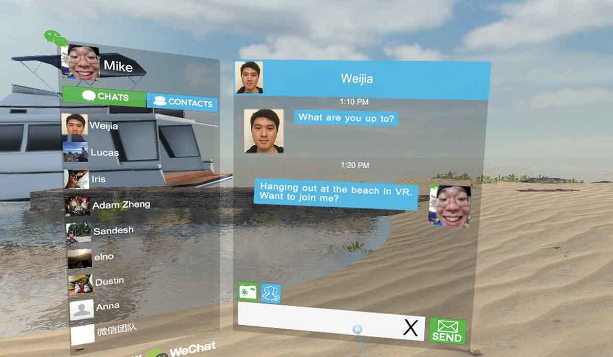 """Auf Facebooks """"Spaces"""" für Oculus Rift antwortet HTC mit einer Social-App, die auf WeChat aufsetzt."""
