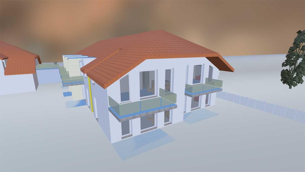 Ein deutsches Maklerbüro bietet seinen Kunden statt abstrakter Grundrisse virtuelle Rundgänge durch das zukünftige Heim.