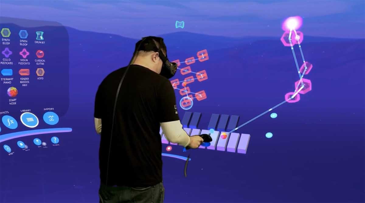 Eine App macht sich raumfüllende Virtual Reality zunutze, um die Art und Weise zu revolutionieren, wie Musik produziert wird.