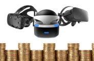 Im Bereich Highend-VR hat Playstation VR weiter die Nase vorne, während Oculus Rift und HTC Vive die Plätze tauschen.