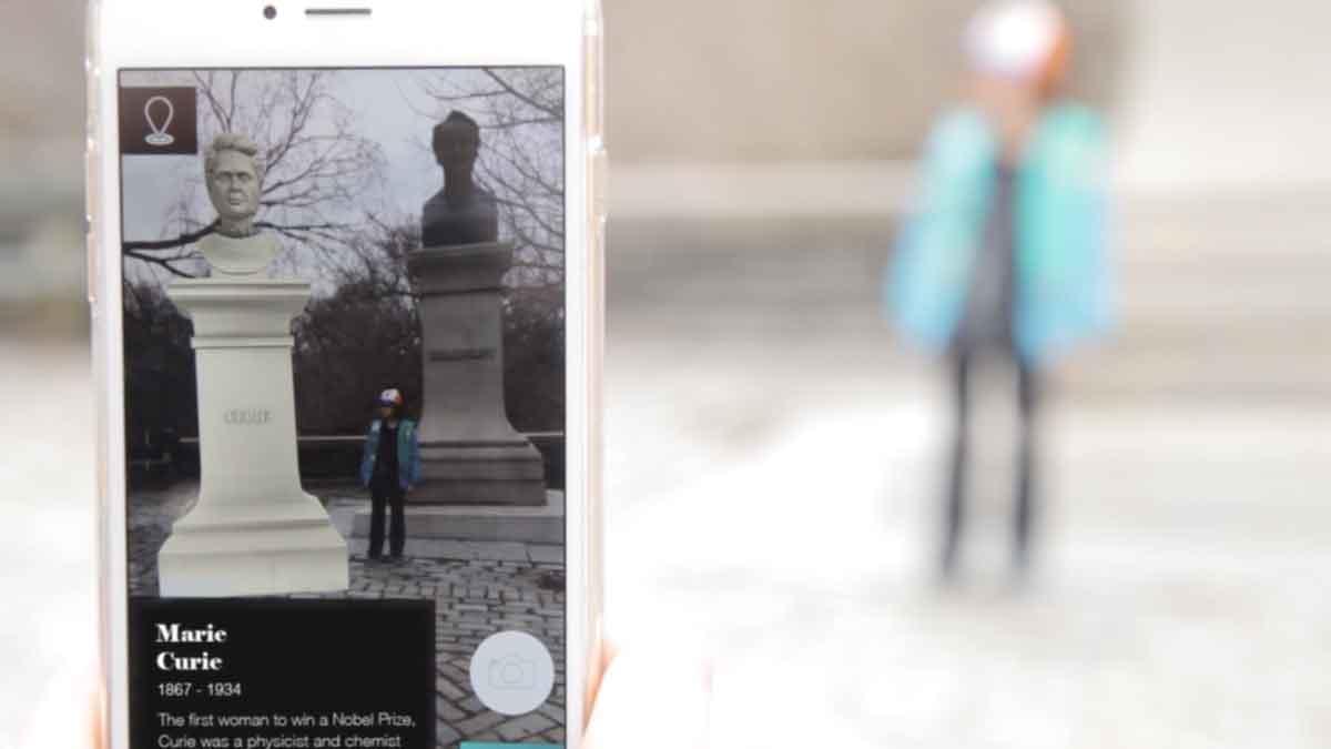 Die meisten Statuen und Denkmäler sind Männern gewidmet. Eine AR-App will diese historische Ungerechtigkeit korrigieren.