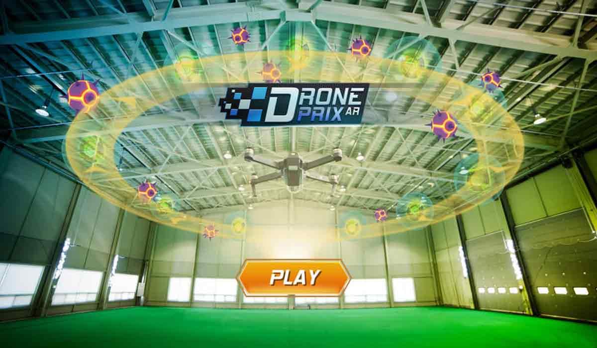 """Drohnenrennen in der Realität auf einer digitalen Rennbahn: """"Drone Prix AR"""" macht es mit Augmented Reality möglich."""