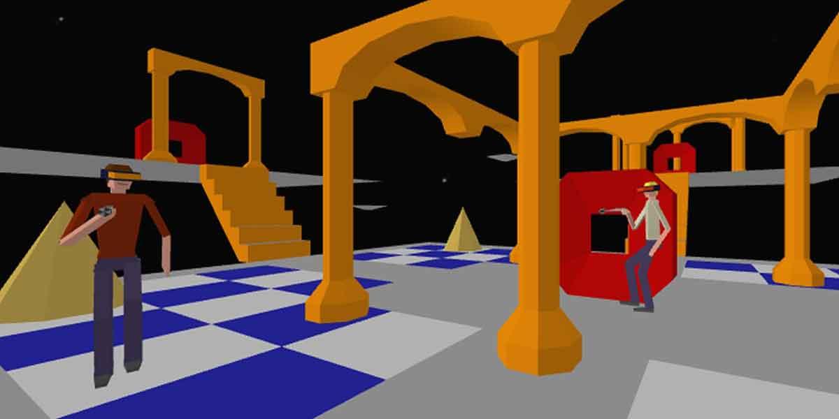 """Das Virtual-Reality-Spiel """"Dactyl Nightmare"""" aus den 90er-Jahren kann man jetzt kostenlos mit Oculus Rift nacherleben."""