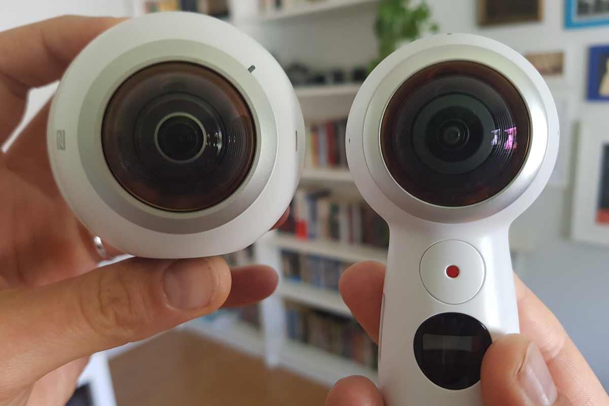 Die 2017er-Version von Samsungs Gear 360 ist handlicher und kann Live-Streaming. Dafür ist die Bildqualität von Fotos deutlich schlechter.