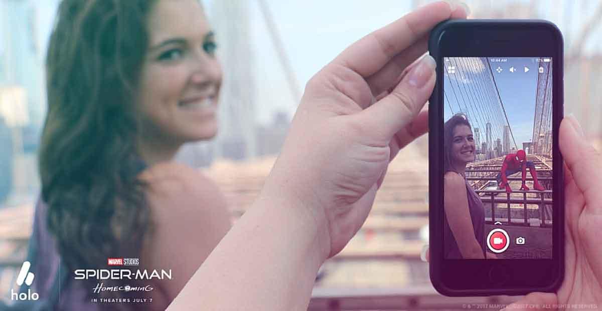 "Die Smartphone-App ""Holo"" platziert 3D-Figuren in der Umgebung"