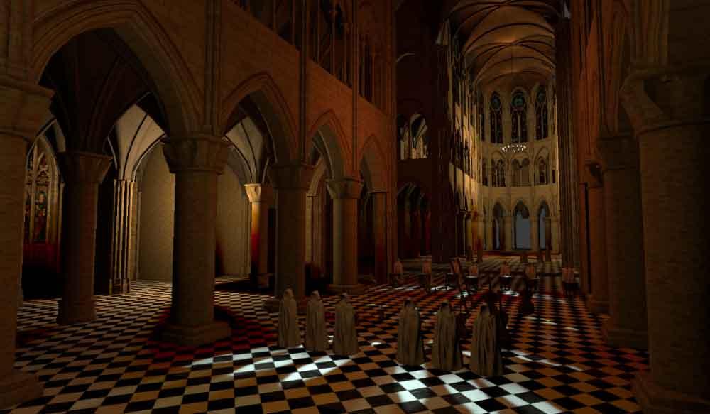 Dank einer Raumklangsimulation kann man ein vergangenes Konzert in der Notre-Dame akustisch so erfahren, als wäre man noch einmal vor Ort.