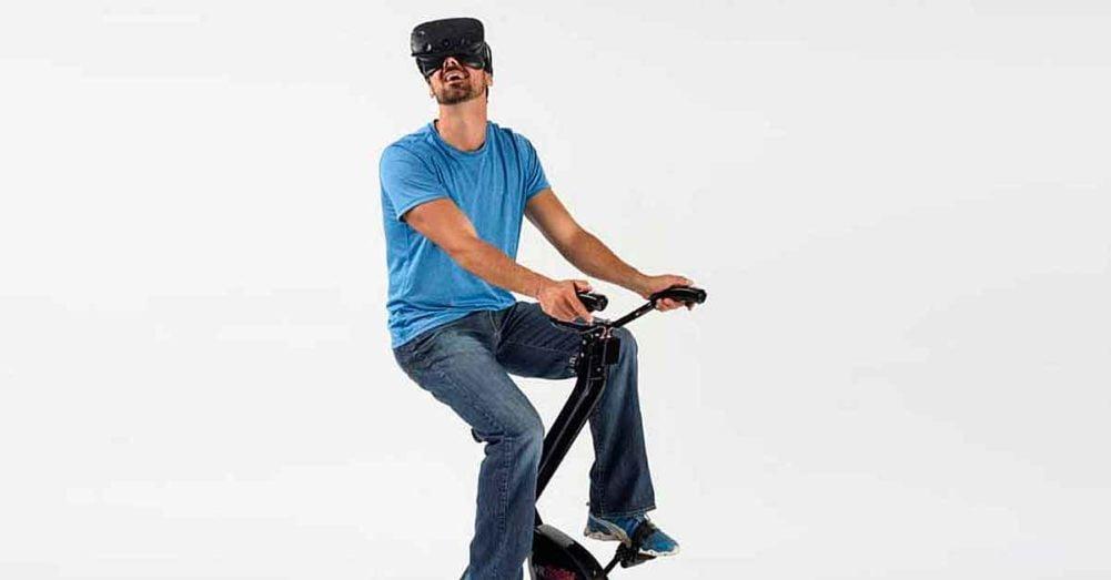 Ein Sensor macht aus jedem Heimtrainer ein VR-Trainingsgerät