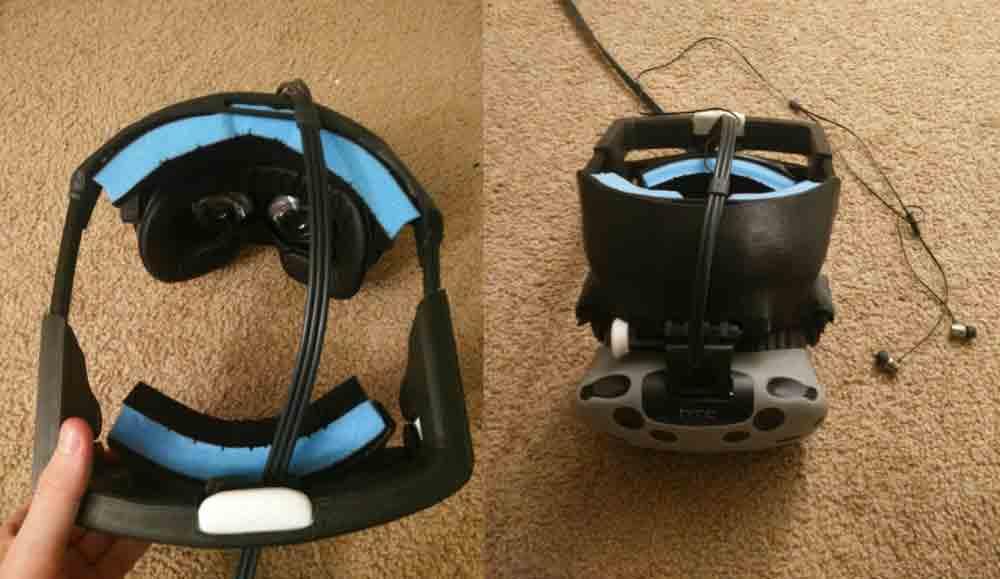 Das Startup Synergywiz hat eine Kopfhalterung für HTC Vive entwickelt, die auf dem bewährten Design von Playstation VR beruht.