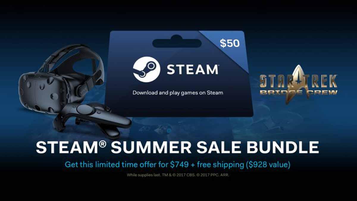 Während des Steam Summer Sales ist HTC Vive ab sofort im Gesamtpaket rund 150 Euro günstiger zu haben. Die Aktion läuft bis zum 5. Juli.
