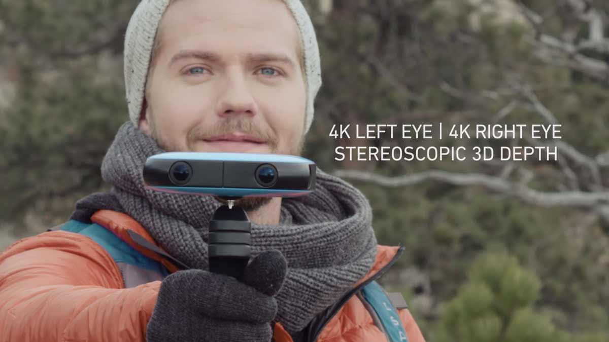 Die 360-Grad-Kamera Vuze ist klein, kompakt und leicht zu bedienen. Sie filmt als einzige Kamera in ihrer Preisklasse in stereoskopischem 3D.