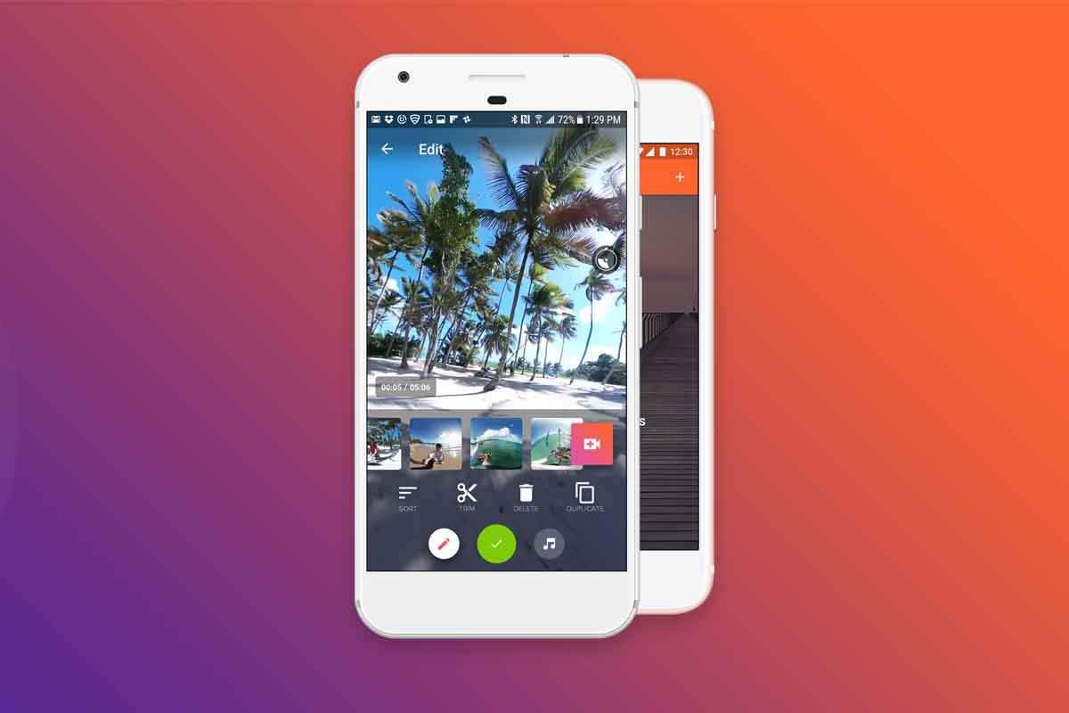 Mit der Smartphone-App V360 lassen sich in Sekundenschnelle sphärische Videos kombinieren, zurechtschneiden und teilen.
