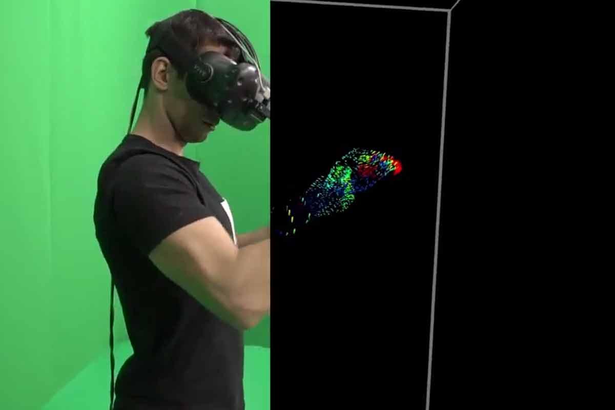 Bei Twitter demonstriert Leap Motions VR-Entwickler Martin Schubert ein überarbeitetes Kamerasystem fürs Hand- und Fingertracking.