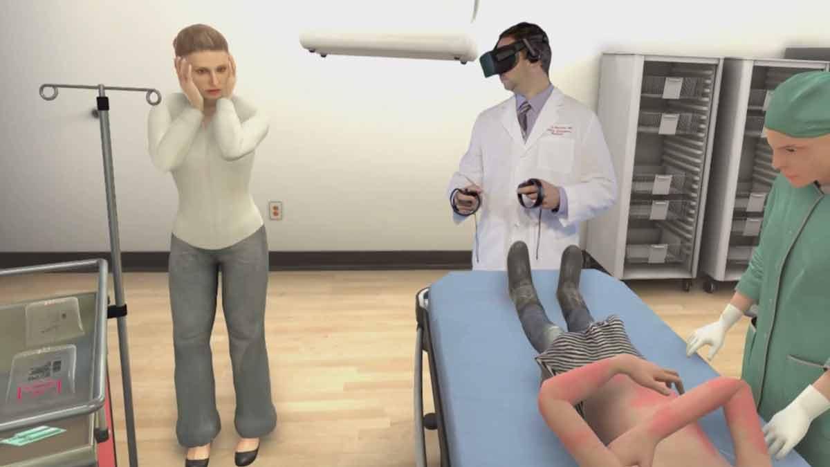 Ärzte trainierenmit Oculus Rift kritische Notfälle und entwickeln so Routinen, die im Klinikalltag über Leben und Tod entscheiden könnten.