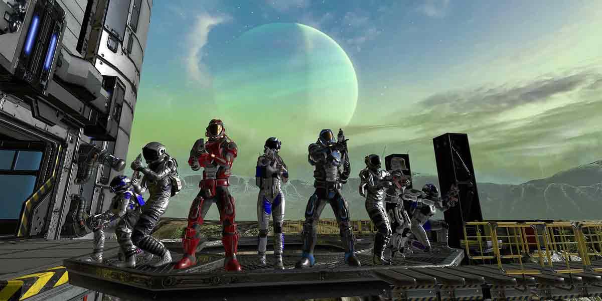 In der VRcade Arena treten acht Spieler gegeneinander an. Das System soll Entertainment-Anbietern den Einstieg ins VR-Geschäft erleichtern.