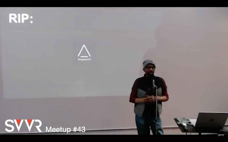 Auf einem Meetup äußert sich der VR-Evangelist und Mitgründer von AltspaceVR Bruce Wooden zur Pleite seines Startups.