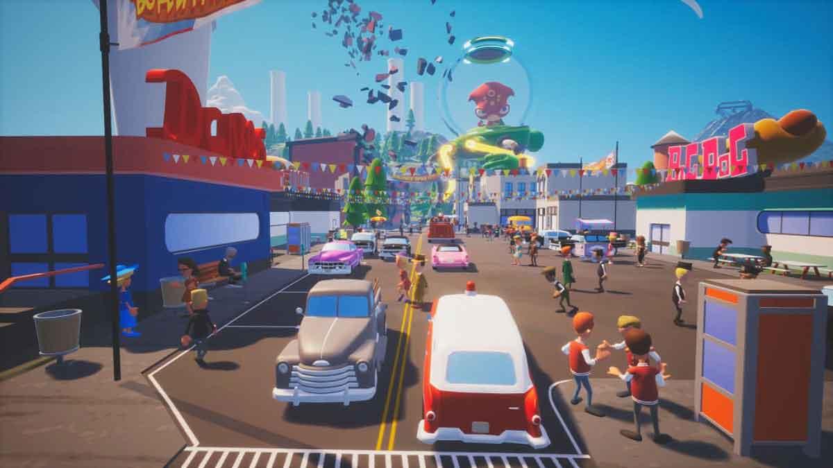 """In """"They Came from Space"""" beteiligen sich plattformübergreifend bis zu zehn VR- und PC-Spieler gleichzeitig an einer Alien-Invasion."""
