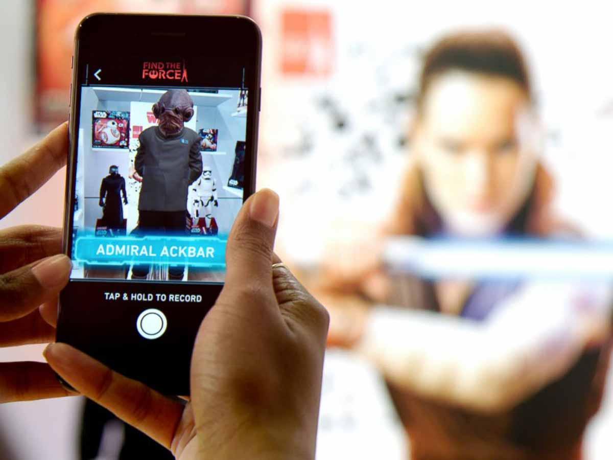 """Disney vermarktet """"Star Wars: The Last Jedi"""" mit AR. Im Pokémon-Stil können Spieler digitale Abbilder von Star-Wars-Charakteren sammeln."""