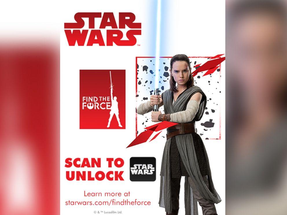 """Wenn man diese Grafik mit der Star-Wars-App scannt, erscheint ein 3D-Modell der """"Porgs"""", einer Fantasierasse aus The Last Jedi. Bild: Disney / Star Wars"""