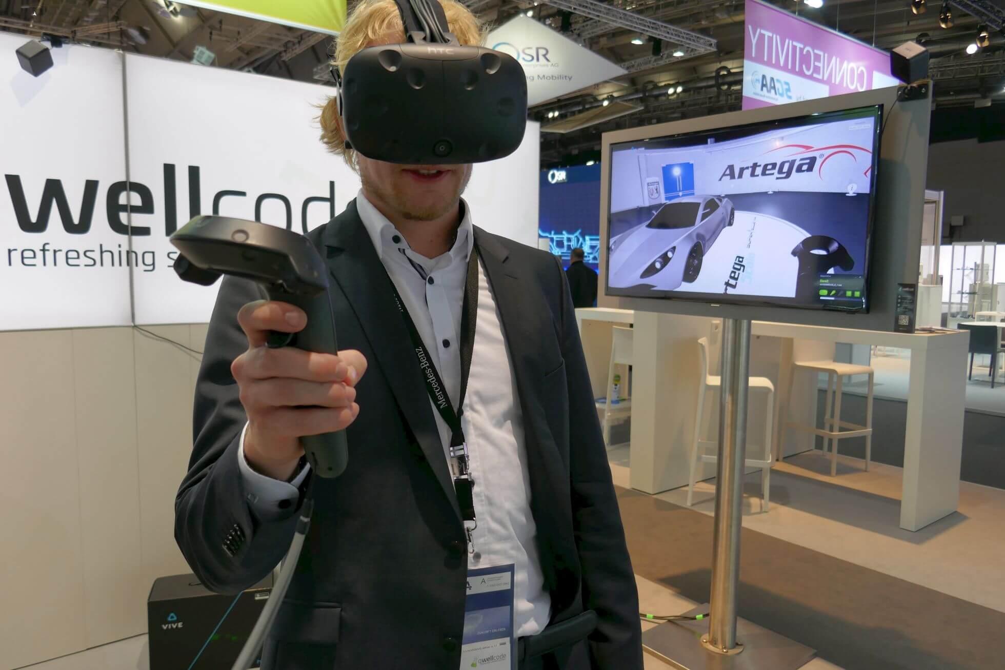 Die Entwicker von VR-Anwendungen qwellcode haben auf die Schnelle das Superhypercar Artega Scalo Superelletra modelliert.