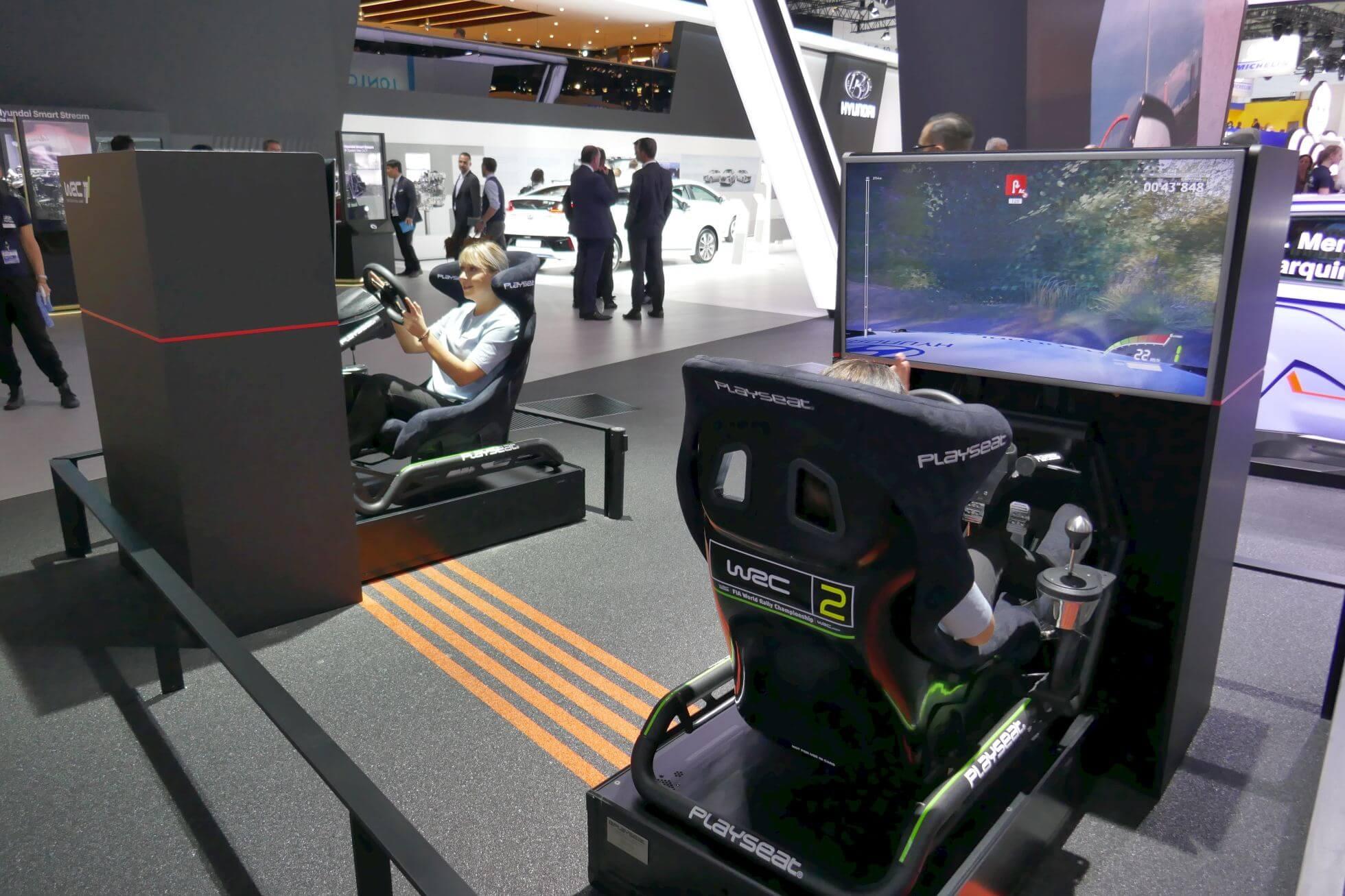 Nochmal PlayStation 4: WRC7 mit Rennsitz von PlaySeat bei Hyundai.