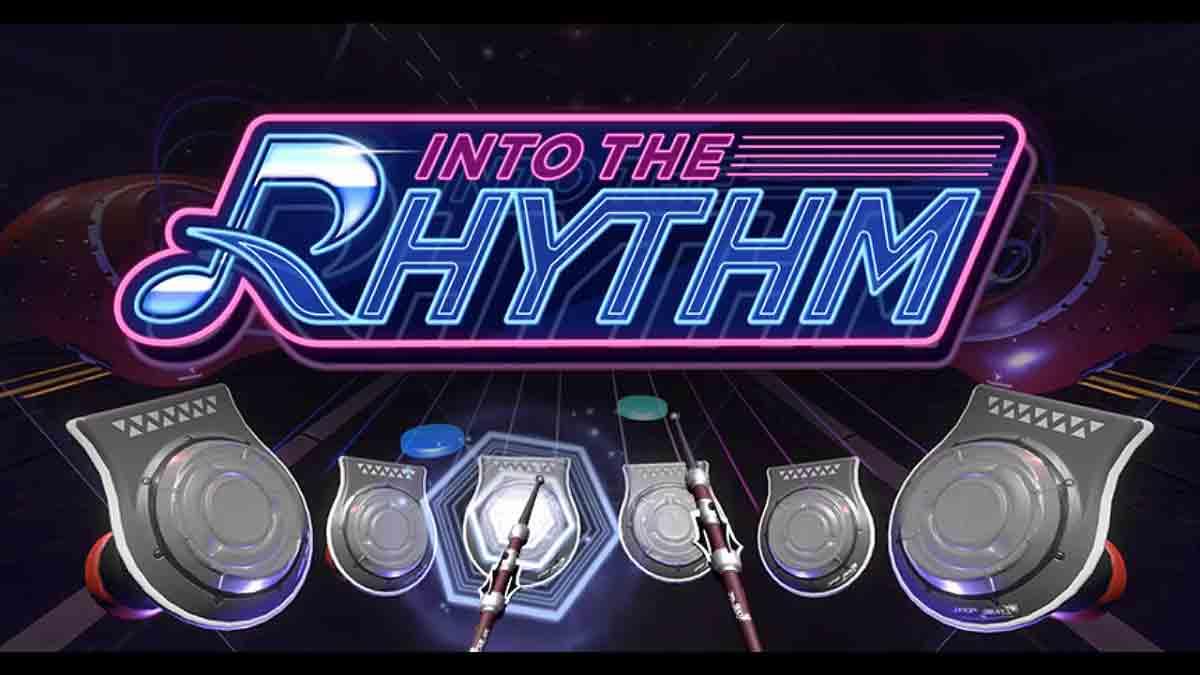 """""""Into the Rhythm"""" ist ein Musikspiel, in dem man mit 3D-Controllern Schlagzeug spielt. In einem Editor lassen sich eigene Beatmaps erstellen."""