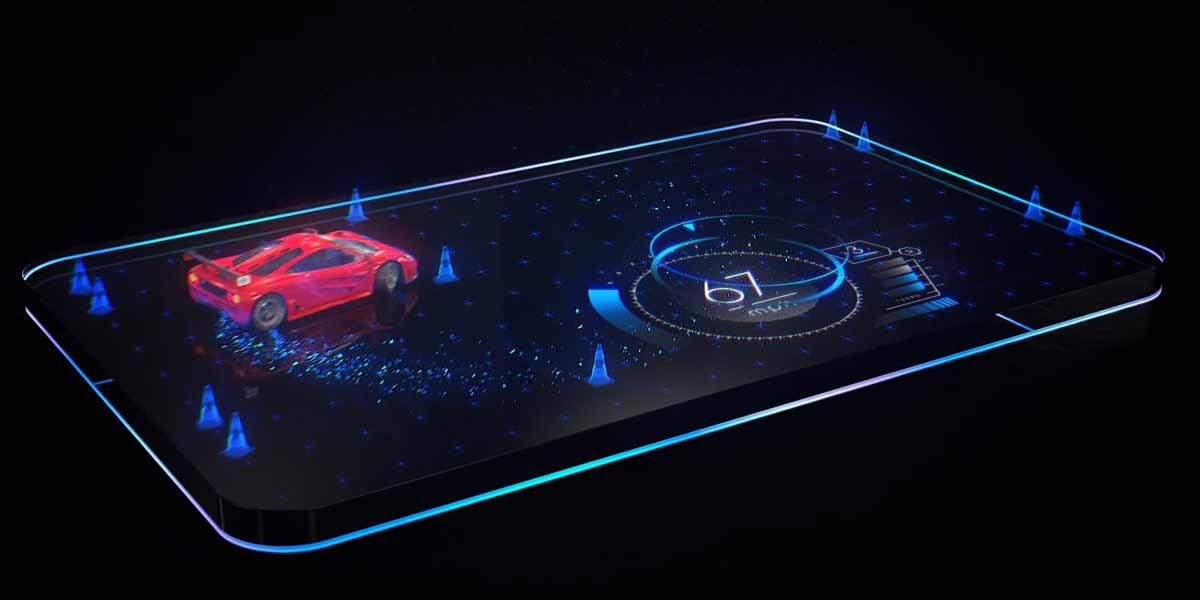 Eine spezielle Lichtfeldtechnologie soll dafür sorgen, dass Inhalte nicht mehr am flachen Touchscreen kleben, sondern in 3D erscheinen.