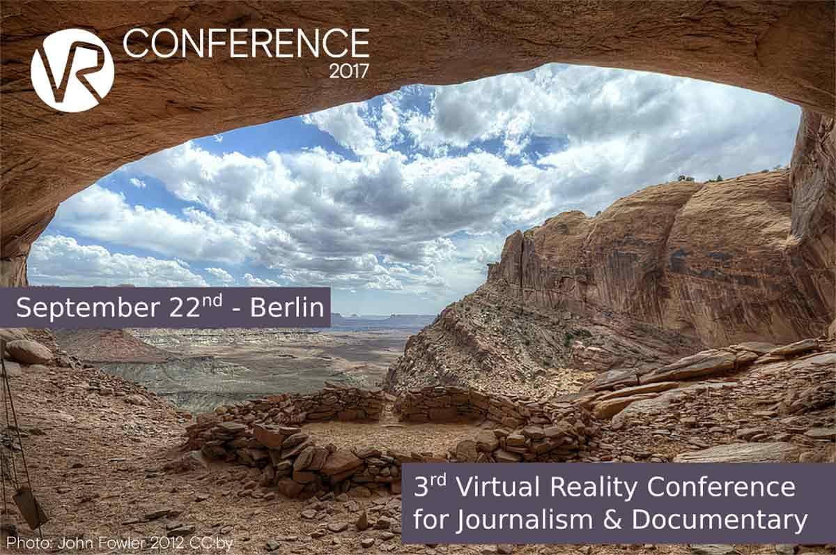 """Am22. September findet in Berlin die """"VR Conference"""" statt, die sich im Schwerpunkt mit VR für Journalismus und Dokumentationen befasst."""