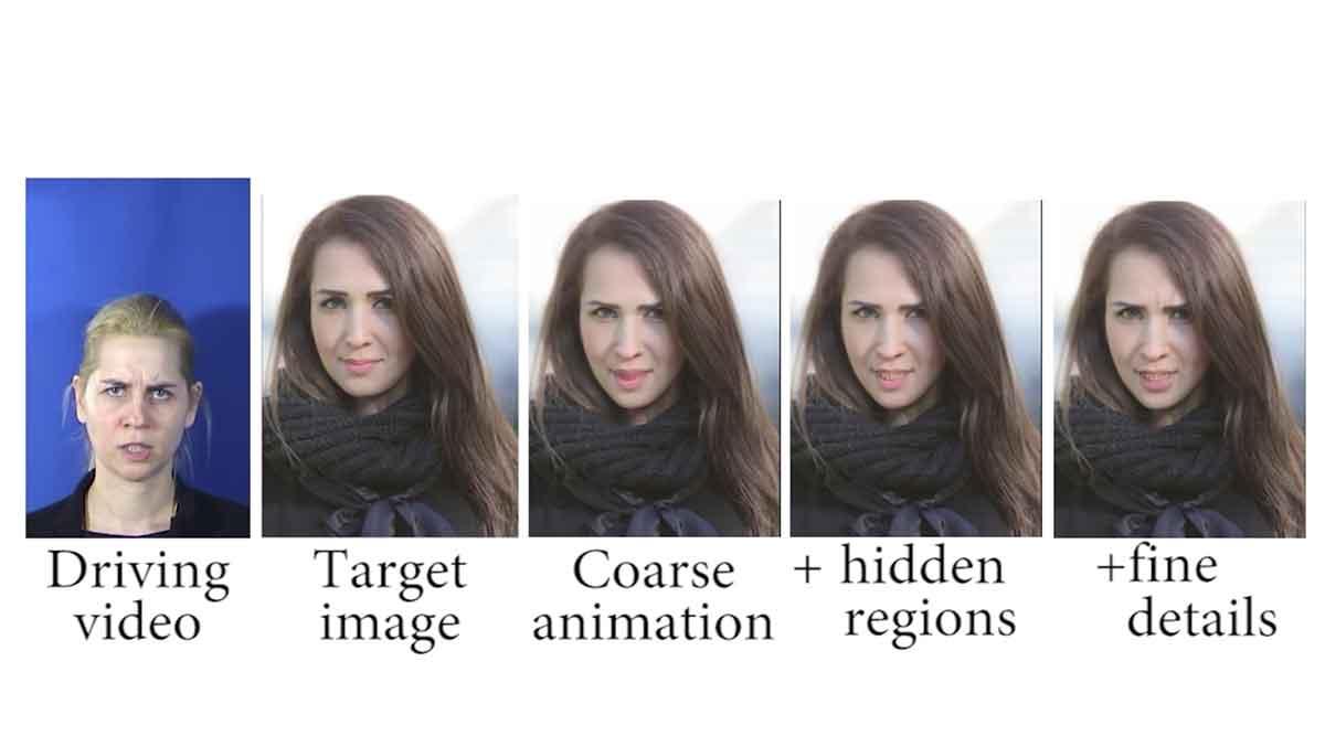 Aus Selfies werden animierte Videos, in denen die abgebildete Person Gesichtsausdrücke eines Nutzers annimmt.